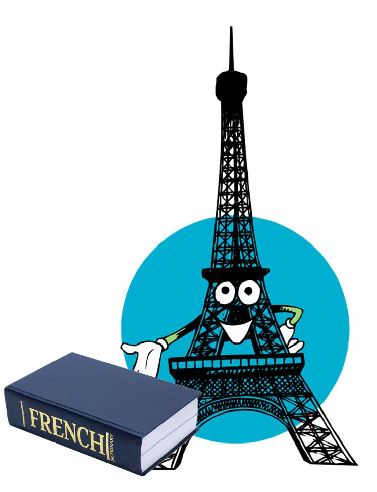 Eiffel tower with dictionary