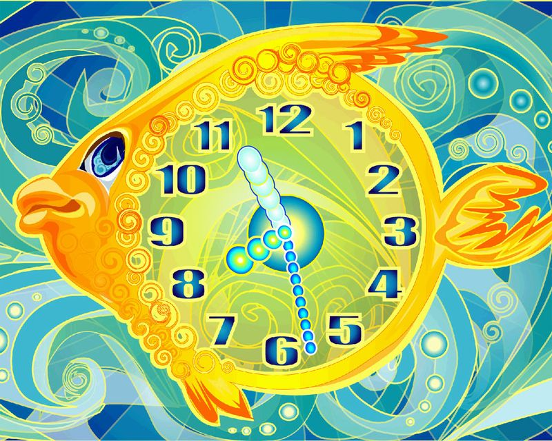 Magical-fish-clock