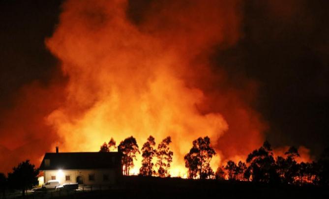 Incendio Igueldo, San Sebastian